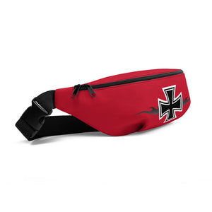 Maltese Cross Flames Gray, Fanny Pack