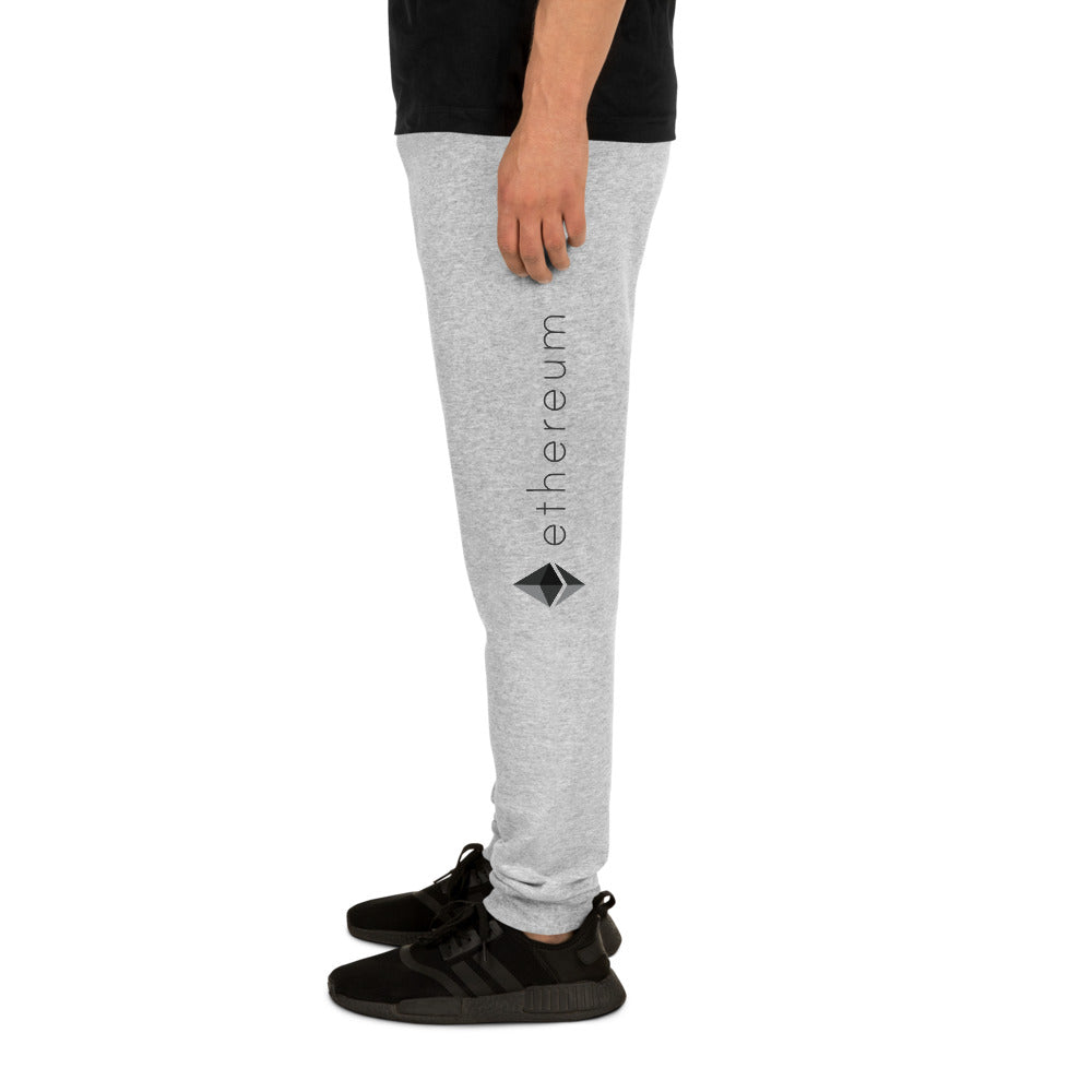 Ethereum ETH Cryptocurrency Logo, Unisex Joggers