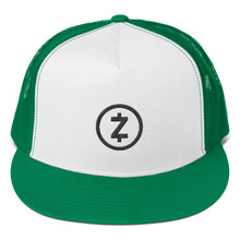 Load image into Gallery viewer, Zcash ZEC Cryptocurrency Logo Black, Classic Trucker Cap