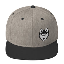 Load image into Gallery viewer, Husky Face Snapback Hat