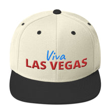 Load image into Gallery viewer, Viva Las Vegas Red Blue Text Partial 3D Puff, Snapback Hat