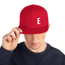 Load image into Gallery viewer, Alphabet Letter E, Snapback Hat