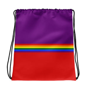Pride Rainbow Flag Colors, Drawstring Bag