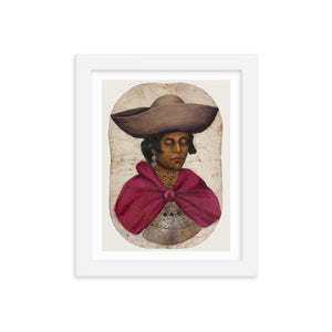 Quechua Indian Woman Oil Painting, Framed Poster