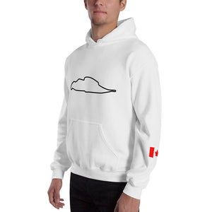Montreal Canada Circuit Gilles Villeneuve Track Map, Hooded Sweatshirt WHITE