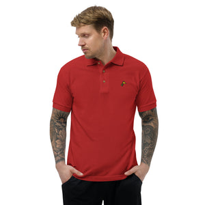 Giraffe Head, Embroidered Classic Polo Shirt