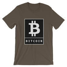 Load image into Gallery viewer, Bitcoin BTC Cryptocurrency Logo Poster, Short-Sleeve Unisex T-Shirt