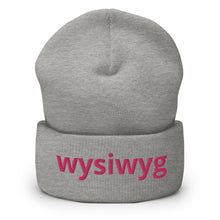 Load image into Gallery viewer, Wysiwyg Text  Cuffed Beanie