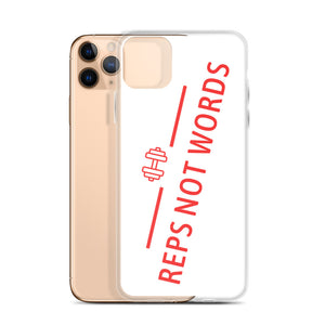 Reps Not Words, iPhone Case White