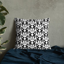 Load image into Gallery viewer, French Bulldog Face, Premium Pillow