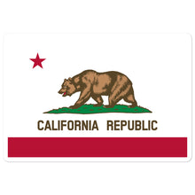Load image into Gallery viewer, California Republic Flag, Bubble-free Die Cut Sticker