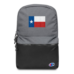 Texas Lone Star Flag, Embroidered Champion Backpack
