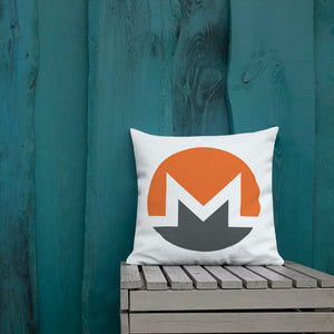 Monero Cryptocurrency Logo, Premium Throw Pillow