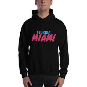 Florida Miami Text, Unisex Heavy Blend Hooded Sweatshirt