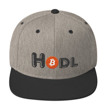 Load image into Gallery viewer, Hodl Text With Bitcoin Logo, Snapback Hat