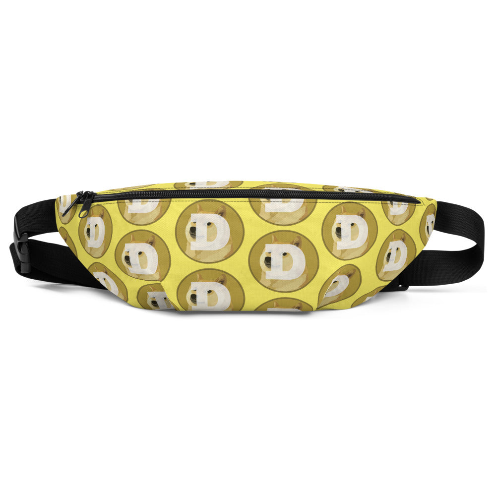Dogecoin Logo Pattern Yellow, Classic Fanny Pack