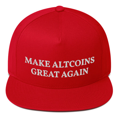 Make Altcoins Great Again MAGA Style Snapback Hat