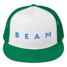 Load image into Gallery viewer, Beam Cryptocurrency Logo Text 3D Puff, Trucker Cap