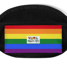 Load image into Gallery viewer, Pride Flag Colors, Fanny Pack Black