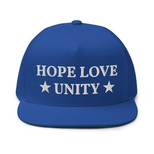 Hope Love and Unity in USA hat
