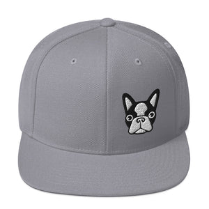 French Bulldog Head Snapback Hat