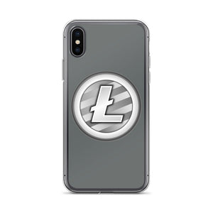 Litecoin Cryptocurrency Logo, iPhone Case Gray