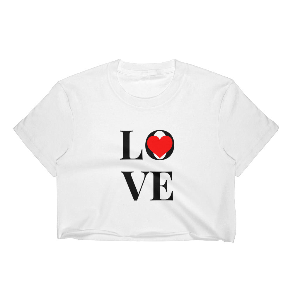 Love Heart, Women's Crop Top