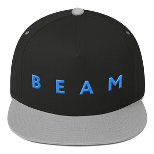 Beam Cryptocurrency Logo Text, Flat Bill Snapback Hat