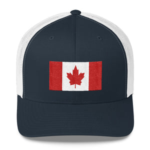 Canada Flag, Retro Trucker Cap