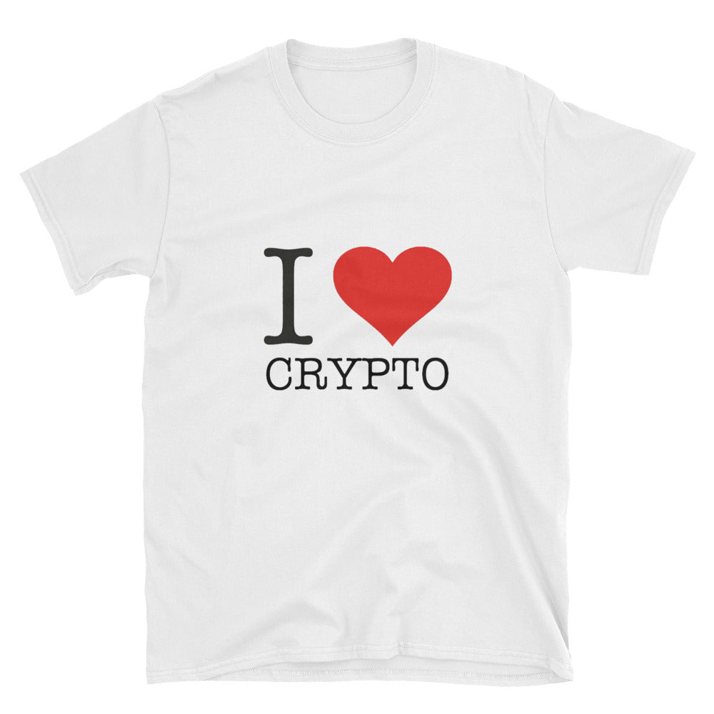 I Love Heart Crypto, Short-Sleeve Unisex T-Shirt