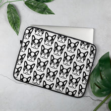 Load image into Gallery viewer, French Bulldog Face, Laptop Sleeve