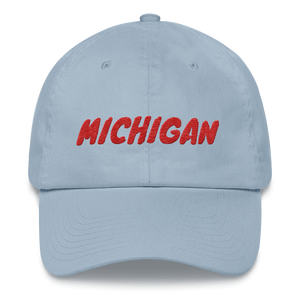 Michigan Text Red, Dad hat