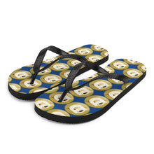 Load image into Gallery viewer, Dogecoin Logo, Unisex Flip-Flops