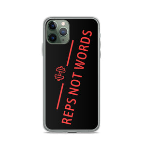 Reps Not Word iPhone Case Black