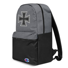 Load image into Gallery viewer, Maltese Cross Chopper Style Biker Embroidered Champion Premium Backpack