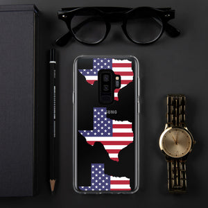 State of Texas Map With US Flag Multiple, Samsung Case