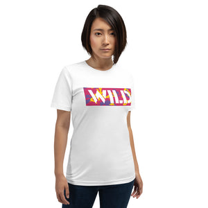 WILD Text Atomic Camo, Women's Short-Sleeve T-Shirt