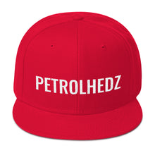 Load image into Gallery viewer, Petrolhedz Text White, Snapback Hat