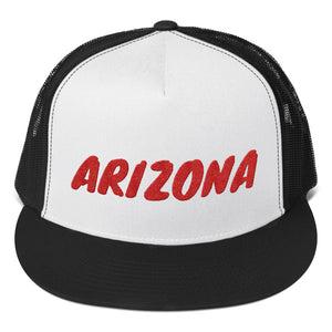 Arizona Text Red, Trucker Cap