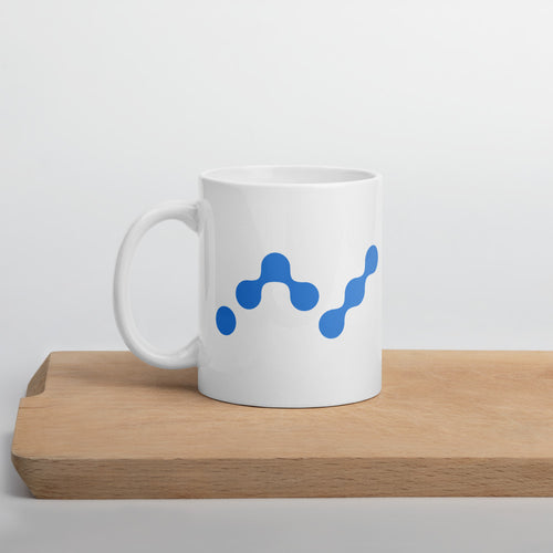 Nano Cryptocurrency Logo White Glossy Coffee Mug 11oz
