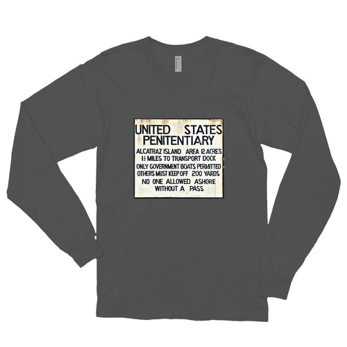 Alcatraz Sign Unisex Long Sleeve T-shirt