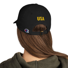Load image into Gallery viewer, US Flag Patch Style With USA Text, Dad Hat