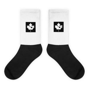 Canada Flag Maple Leaf Pirate, Unisex Sublimated Socks