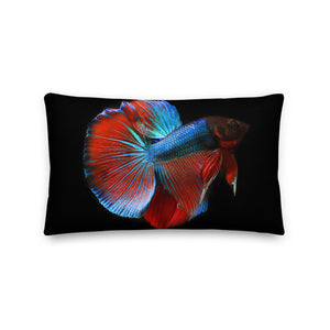 Betta Fish, Premium Pillow Case 20x12