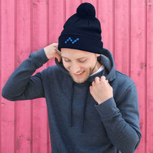 Load image into Gallery viewer, Nano Cryptocurrency Logo, Pom-Pom Knit Beanie
