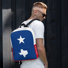 Load image into Gallery viewer, White Texas Lone Star and Map, Backpack Multicolor