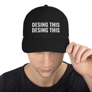 Design Your Own Text 2 Lines White, Champion Dad Cap