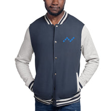Load image into Gallery viewer, Nano Cryptocurrency Logo, Men's Embroidered Champion Bomber Jacket