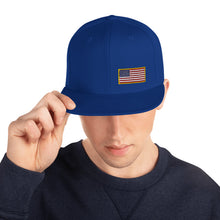 Load image into Gallery viewer, US Flag Small Left Side Embroidered Snapback Hat