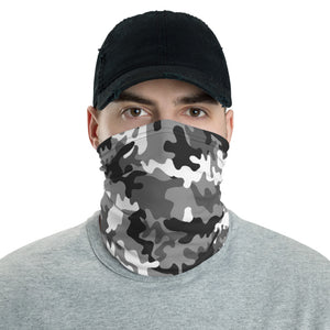 Gray Camouflage Pattern, Neck Gaiter Face Mask Motorcycle Tube